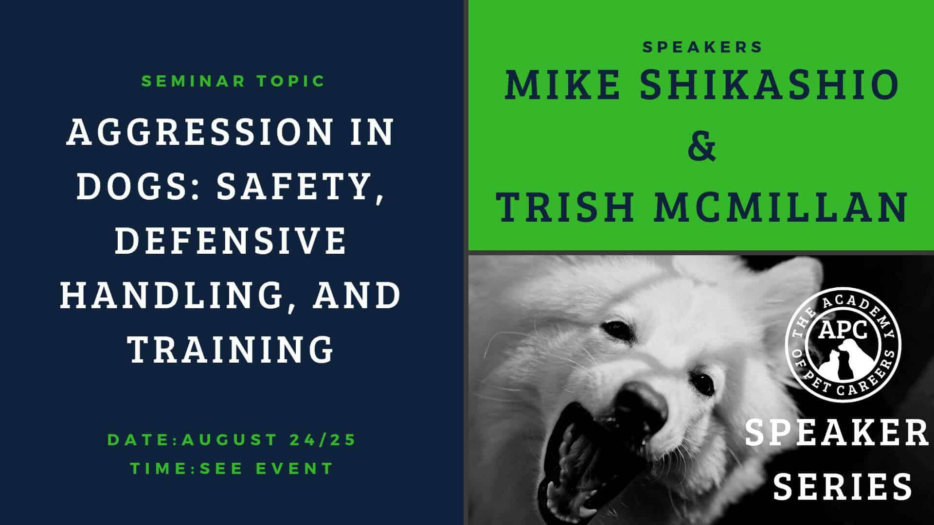Mike Shikashio, Trish McMillan, The Academy of Pet Careers