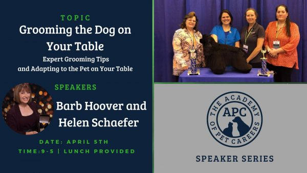 Barb Hoover and Helen Schaefer Event Image, The Academy of Pet Careers